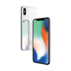 iPhone X - 64GB (Vit) - Klass A, Ny skärm, Face-ID