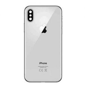 iPhone X - Baksida med ram (Vit)