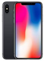 iPhone X - 64GB (Svart) - Klass A, Ny skärm