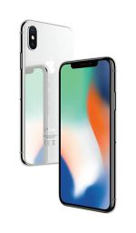 iPhone X - 64GB (Vit) - Klass A, Ny skärm